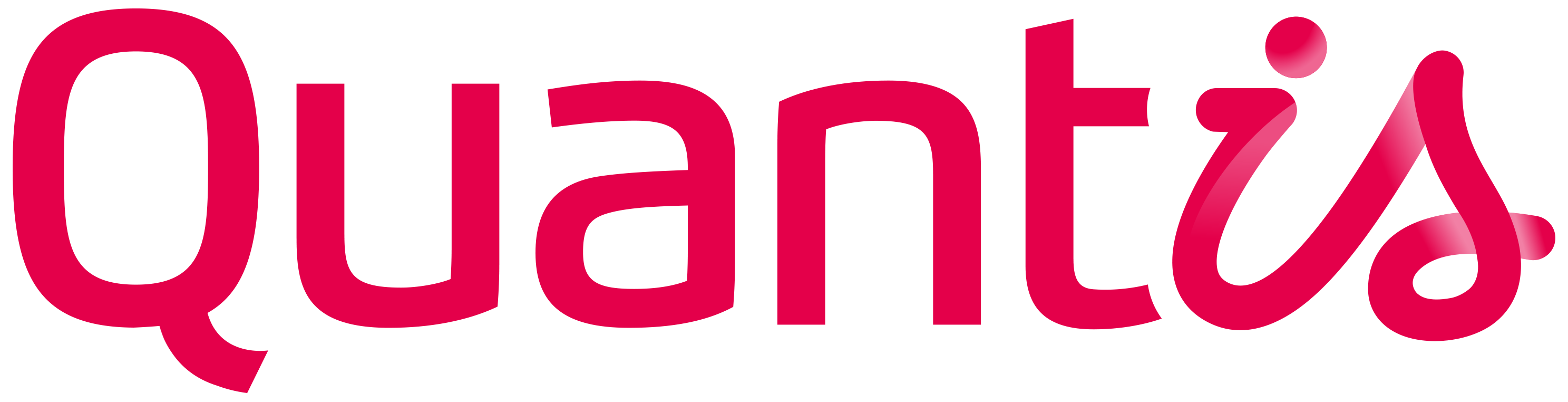 Image quantis logo red rgb transparent background