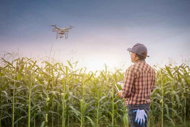 Image farmer drone dreamstime s 150196994