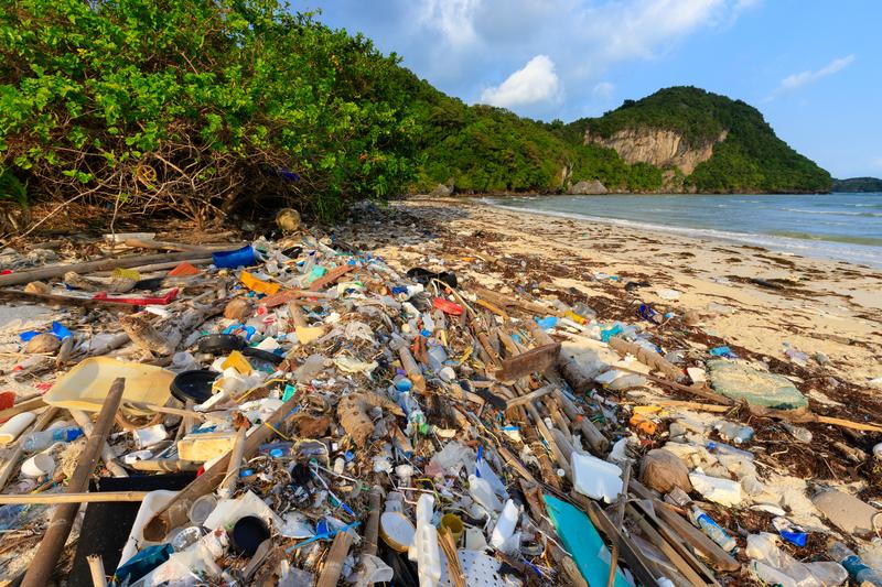 Image plastic beach dreamstime s 156271359